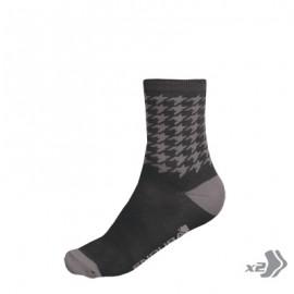 VÝPREDAJ Houndstooth ponožky (2-balenie)